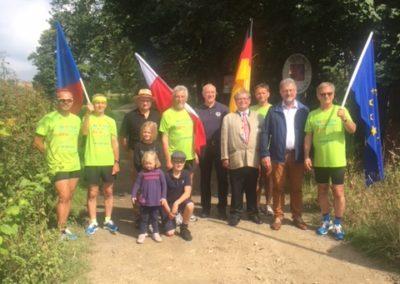 D 7 Granica Czechy Niemcy- droga w lesie